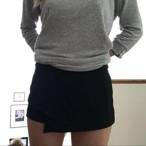 Urban Outfitters Black mini skort shorts